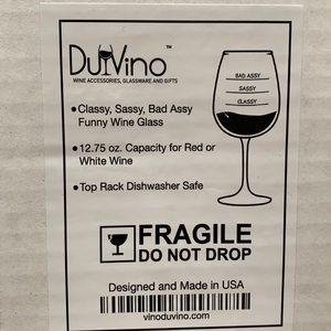 NEW …DU VINO Classy,Sassy,Bad Assy Wine Glass.🍷